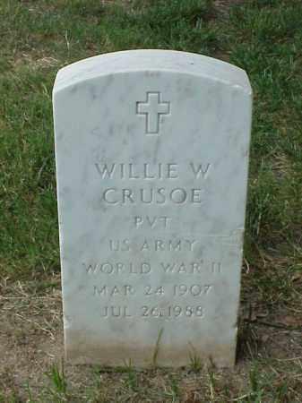 CRUSOE (VETERAN WWII), WILLIE W - Pulaski County, Arkansas | WILLIE W CRUSOE (VETERAN WWII) - Arkansas Gravestone Photos