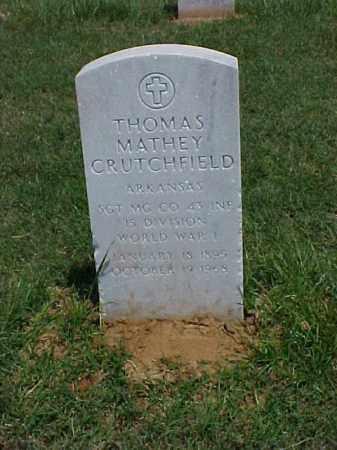 CRUTCHFIELD (VETERAN WWI), THOMAS MATHEY - Pulaski County, Arkansas | THOMAS MATHEY CRUTCHFIELD (VETERAN WWI) - Arkansas Gravestone Photos