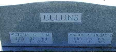 CULLINS SIMS, VICTORIA - Pulaski County, Arkansas   VICTORIA CULLINS SIMS - Arkansas Gravestone Photos