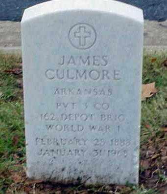 CULMORE (VETERAN WWI), JAMES - Pulaski County, Arkansas | JAMES CULMORE (VETERAN WWI) - Arkansas Gravestone Photos