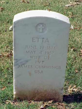 CUMMINGS, ETTA - Pulaski County, Arkansas | ETTA CUMMINGS - Arkansas Gravestone Photos