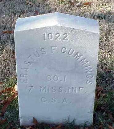 CUMMINGS (VETERAN CSA), ERASTUS F - Pulaski County, Arkansas   ERASTUS F CUMMINGS (VETERAN CSA) - Arkansas Gravestone Photos