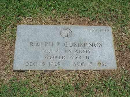 CUMMINGS (VETERAN WWII), RALPH P - Pulaski County, Arkansas | RALPH P CUMMINGS (VETERAN WWII) - Arkansas Gravestone Photos