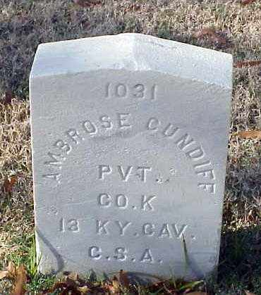 CUNDIFF (VETERAN CSA), AMBROSE - Pulaski County, Arkansas | AMBROSE CUNDIFF (VETERAN CSA) - Arkansas Gravestone Photos