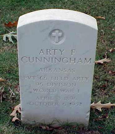 CUNNINGHAM (VETERAN WWI), ARTY F - Pulaski County, Arkansas | ARTY F CUNNINGHAM (VETERAN WWI) - Arkansas Gravestone Photos