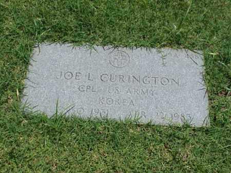 CURINGTON (VETERAN KOR), JOE L - Pulaski County, Arkansas | JOE L CURINGTON (VETERAN KOR) - Arkansas Gravestone Photos