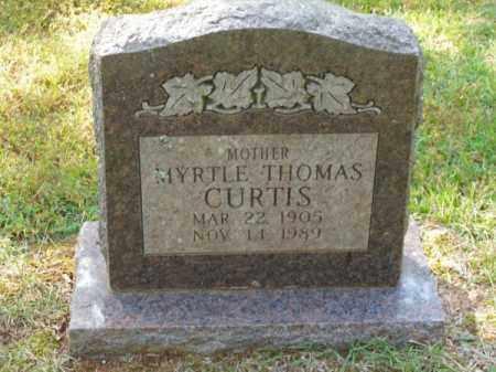 THOMAS CURTIS, MYRTLE - Pulaski County, Arkansas | MYRTLE THOMAS CURTIS - Arkansas Gravestone Photos