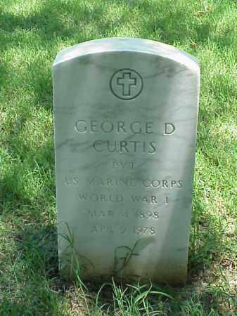 CURTIS (VETERAN WWI), GEORGE D - Pulaski County, Arkansas | GEORGE D CURTIS (VETERAN WWI) - Arkansas Gravestone Photos