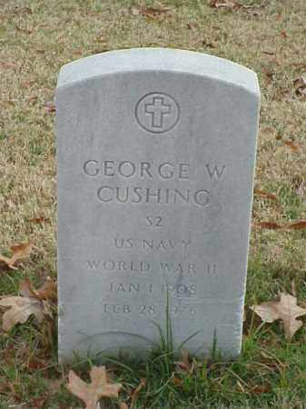 CUSHING (VETERAN WWII), GEORGE W - Pulaski County, Arkansas | GEORGE W CUSHING (VETERAN WWII) - Arkansas Gravestone Photos
