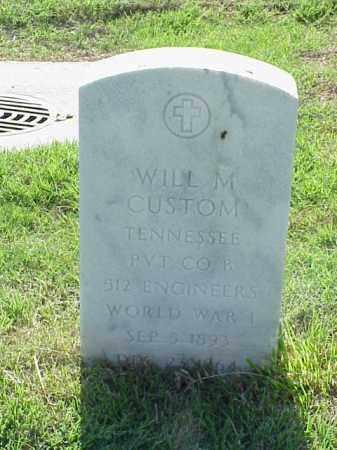 CUSTOM (VETERAN WWI), WILL M - Pulaski County, Arkansas | WILL M CUSTOM (VETERAN WWI) - Arkansas Gravestone Photos