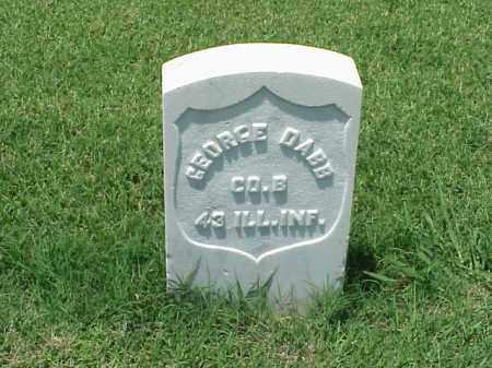 DABB (VETERAN UNION), GEORGE - Pulaski County, Arkansas | GEORGE DABB (VETERAN UNION) - Arkansas Gravestone Photos
