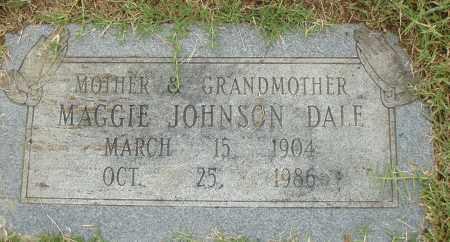 JOHNSON DALE, MAGGIE - Pulaski County, Arkansas | MAGGIE JOHNSON DALE - Arkansas Gravestone Photos