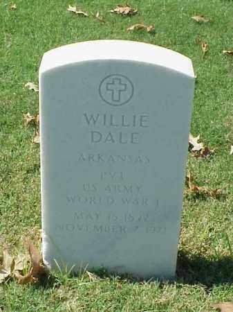 DALE (VETERAN WWI), WILLIE - Pulaski County, Arkansas | WILLIE DALE (VETERAN WWI) - Arkansas Gravestone Photos