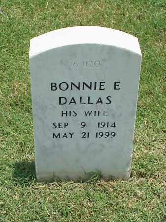 DALLAS, BONNIE E - Pulaski County, Arkansas | BONNIE E DALLAS - Arkansas Gravestone Photos