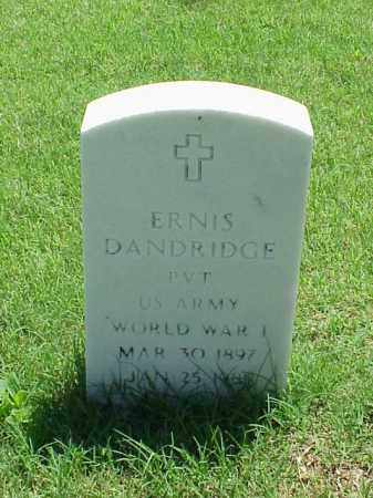 DANDRIDGE (VETERAN WWI), ERNIS - Pulaski County, Arkansas | ERNIS DANDRIDGE (VETERAN WWI) - Arkansas Gravestone Photos