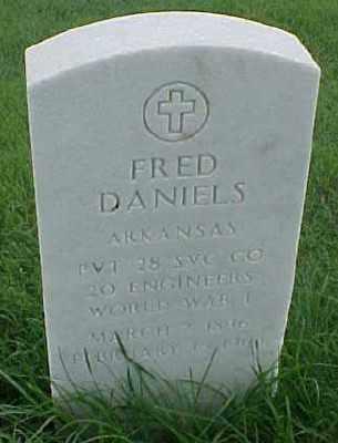 DANIELS (VETERAN WWI), FRED - Pulaski County, Arkansas   FRED DANIELS (VETERAN WWI) - Arkansas Gravestone Photos