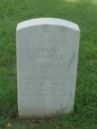 DANIELS (VETERAN WWII), DAVID - Pulaski County, Arkansas   DAVID DANIELS (VETERAN WWII) - Arkansas Gravestone Photos