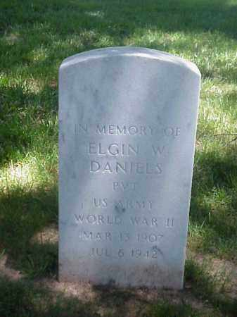 DANIELS (VETERAN WWII), ELGIN W - Pulaski County, Arkansas | ELGIN W DANIELS (VETERAN WWII) - Arkansas Gravestone Photos