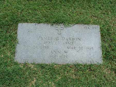 DARWIN (VETERAN), JAMES GRANVILLE - Pulaski County, Arkansas | JAMES GRANVILLE DARWIN (VETERAN) - Arkansas Gravestone Photos