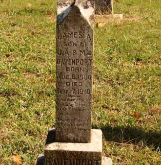 DAVENPORT, JAMES A - Pulaski County, Arkansas | JAMES A DAVENPORT - Arkansas Gravestone Photos