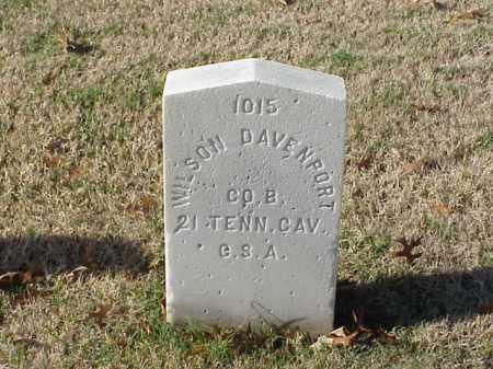 DAVENPORT (VETERAN CSA), WILSON - Pulaski County, Arkansas   WILSON DAVENPORT (VETERAN CSA) - Arkansas Gravestone Photos
