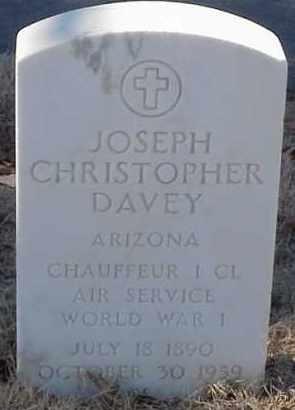 DAVEY  (VETERAN WWI), JOSEPH CHRISTOPHER - Pulaski County, Arkansas   JOSEPH CHRISTOPHER DAVEY  (VETERAN WWI) - Arkansas Gravestone Photos