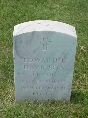 DAVIDSON (VETERAN 2 WARS), EDWARD L - Pulaski County, Arkansas | EDWARD L DAVIDSON (VETERAN 2 WARS) - Arkansas Gravestone Photos