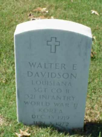 DAVIDSON, SR (VETERAN 2 WARS), WALTER E - Pulaski County, Arkansas   WALTER E DAVIDSON, SR (VETERAN 2 WARS) - Arkansas Gravestone Photos