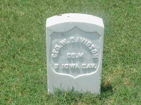 DAVIDSON (VETERAN UNION), GEORGE W - Pulaski County, Arkansas   GEORGE W DAVIDSON (VETERAN UNION) - Arkansas Gravestone Photos