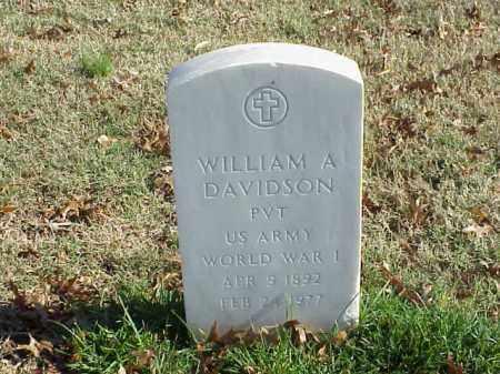 DAVIDSON (VETERAN WWI), WILLIAM A - Pulaski County, Arkansas | WILLIAM A DAVIDSON (VETERAN WWI) - Arkansas Gravestone Photos
