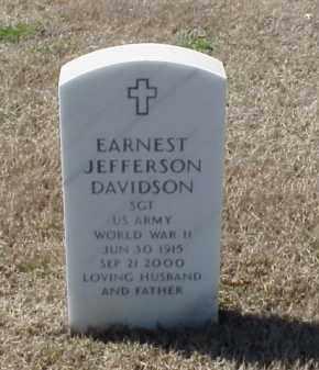 DAVIDSON (VETERAN WWII), EARNEST JEFFERSON - Pulaski County, Arkansas | EARNEST JEFFERSON DAVIDSON (VETERAN WWII) - Arkansas Gravestone Photos