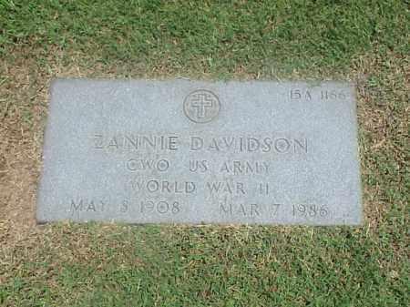 DAVIDSON (VETERAN WWII), ZANNIE - Pulaski County, Arkansas | ZANNIE DAVIDSON (VETERAN WWII) - Arkansas Gravestone Photos