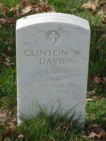 DAVIE (VETERAN WWI), CLINTON W - Pulaski County, Arkansas   CLINTON W DAVIE (VETERAN WWI) - Arkansas Gravestone Photos