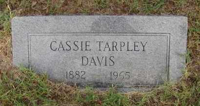 TARPLEY DAVIS, CASSIE - Pulaski County, Arkansas   CASSIE TARPLEY DAVIS - Arkansas Gravestone Photos