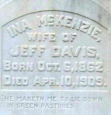 DAVIS, INA (CLOSEUP) - Pulaski County, Arkansas | INA (CLOSEUP) DAVIS - Arkansas Gravestone Photos
