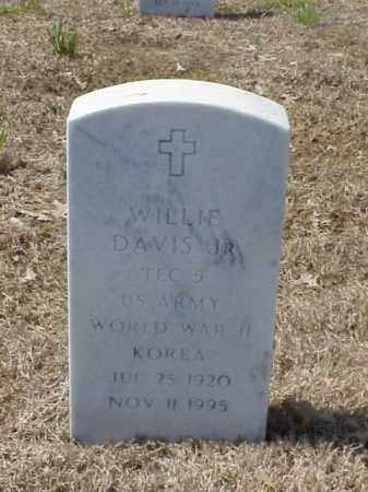 DAVIS, JR (VETERAN 2 WARS), WILLIE - Pulaski County, Arkansas | WILLIE DAVIS, JR (VETERAN 2 WARS) - Arkansas Gravestone Photos