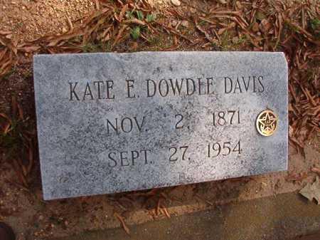 DOWDLE DAVIS, KATE E - Pulaski County, Arkansas | KATE E DOWDLE DAVIS - Arkansas Gravestone Photos