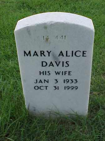 DAVIS, MARY ALICE - Pulaski County, Arkansas | MARY ALICE DAVIS - Arkansas Gravestone Photos