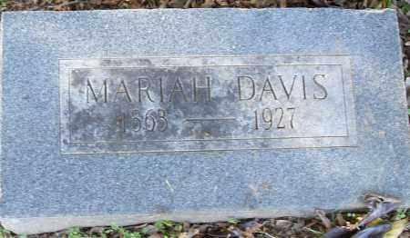 DAVIS, MARIAH - Pulaski County, Arkansas | MARIAH DAVIS - Arkansas Gravestone Photos