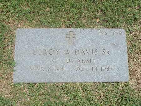 DAVIS, SR (VETERAN), LEROY A - Pulaski County, Arkansas | LEROY A DAVIS, SR (VETERAN) - Arkansas Gravestone Photos