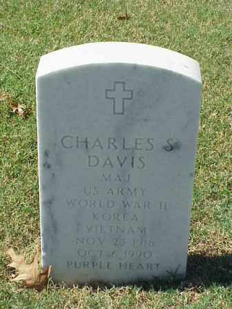 DAVIS (VETERAN 3 WARS), CHARLES S - Pulaski County, Arkansas | CHARLES S DAVIS (VETERAN 3 WARS) - Arkansas Gravestone Photos