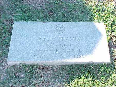 DAVIS (VETERAN WWI), FELIX - Pulaski County, Arkansas | FELIX DAVIS (VETERAN WWI) - Arkansas Gravestone Photos