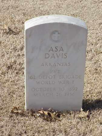 DAVIS (VETERAN WWI), ASA - Pulaski County, Arkansas   ASA DAVIS (VETERAN WWI) - Arkansas Gravestone Photos