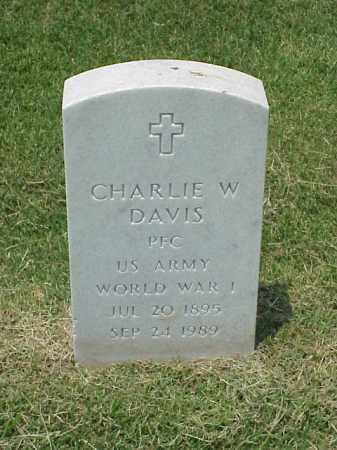 DAVIS (VETERAN WWI), CHARLIE W - Pulaski County, Arkansas | CHARLIE W DAVIS (VETERAN WWI) - Arkansas Gravestone Photos