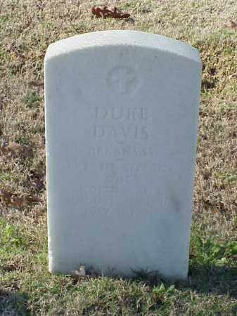 DAVIS (VETERAN WWI), DUKE - Pulaski County, Arkansas   DUKE DAVIS (VETERAN WWI) - Arkansas Gravestone Photos