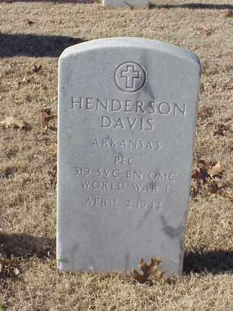 DAVIS (VETERAN WWI), HENDERSON - Pulaski County, Arkansas   HENDERSON DAVIS (VETERAN WWI) - Arkansas Gravestone Photos