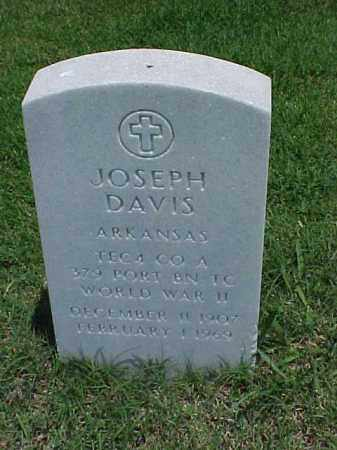 DAVIS (VETERAN WWII), JOSEPH - Pulaski County, Arkansas | JOSEPH DAVIS (VETERAN WWII) - Arkansas Gravestone Photos