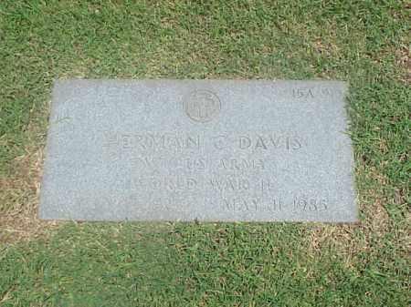 DAVIS (VETERAN WWII), HERMAN C - Pulaski County, Arkansas | HERMAN C DAVIS (VETERAN WWII) - Arkansas Gravestone Photos