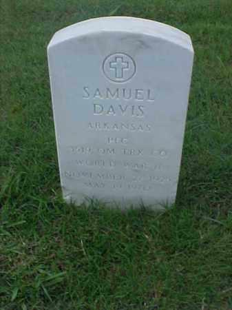 DAVIS (VETERAN WWII), SAMUEL - Pulaski County, Arkansas   SAMUEL DAVIS (VETERAN WWII) - Arkansas Gravestone Photos