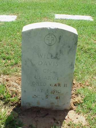 DAVIS (VETERAN WWII), WILLIE - Pulaski County, Arkansas | WILLIE DAVIS (VETERAN WWII) - Arkansas Gravestone Photos